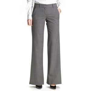 Theory Emery Stretch Wool Wide Leg Trousers Pants
